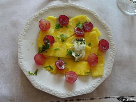 Carpaccio d'ananas de Jamie Oliver