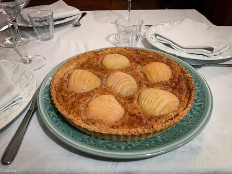 Dessert de saison – Tarte Bourdaloue (amandine aux poires)