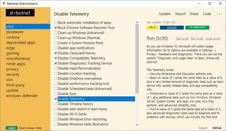 Debotnet - Contrôlez les paramètres liés à votre confidentialité sous Windows 10
