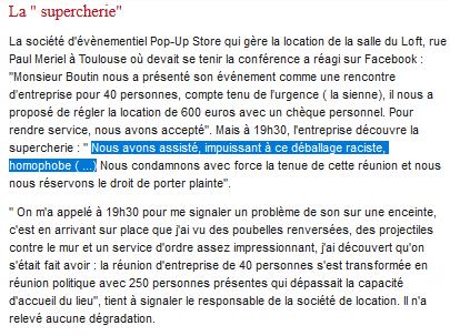 #Toulouse : comment Ménard et Bousquet copient les méthodes pourries de Dieudonné