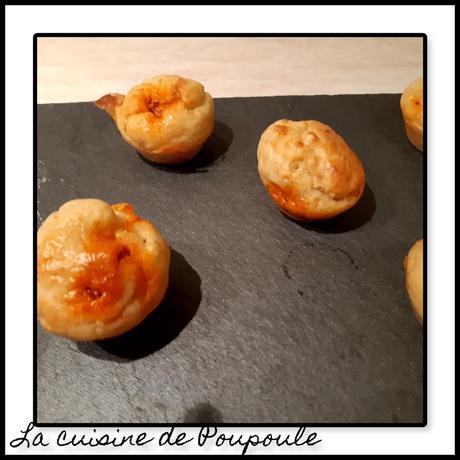 Petits muffins chèvre chorizo