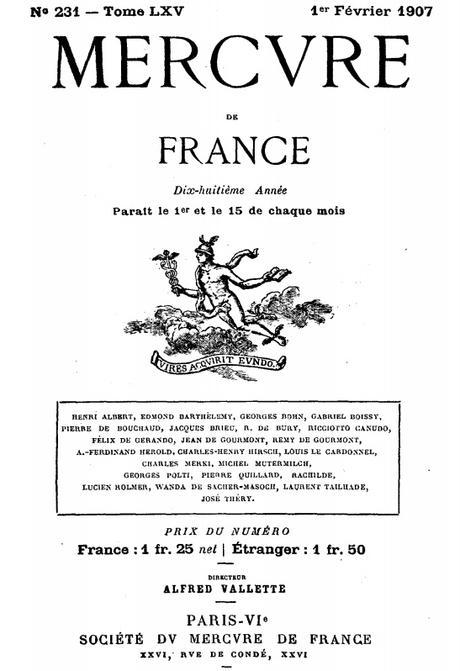 1900 - Le Mercure de France (suite)