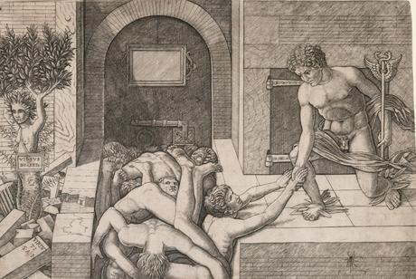 Giovanni Antonio da Brescia 1500-05 Allegory of the Rescue of Humanity Virtus Deserta