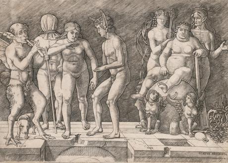 Giovanni Antonio da Brescia 1500-05 Allegory of the Fall of Ignorant Humanity Virtus Combusta