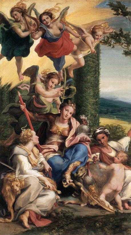 Correggio 1531Allegory_of_Virtu Louvre