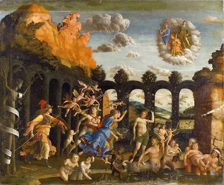 Mantegna 1499-1502 Minerve chassant les Vices du jardin de la Vertu Louvre