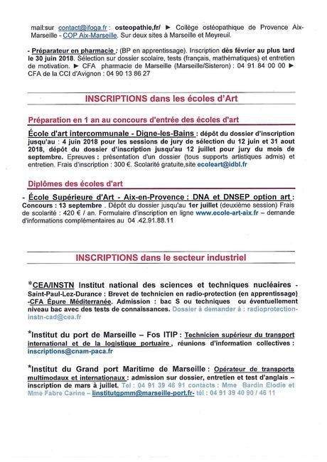 Lettre flash du CIO Mai 2018 - Lycée Marseilleveyre