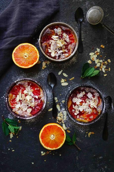 orange sanguine , amandes , frangipane