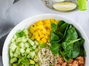 Poke bowl (saumon, avocat mangue bas)