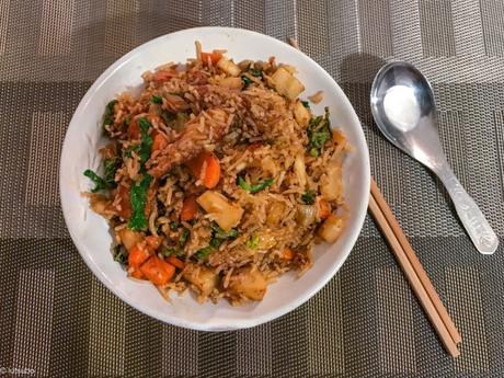 Attention, ça pique ! – Spicy Tofu Fried Rice (riz sauté piquant)