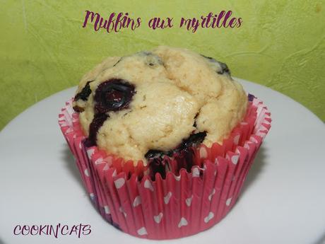 MUFFINS AUX MYRTILLES MOELLEUX (sans gluten, végétalien)