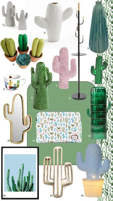 décoration cactus vase affiche design lampe porte-manteau original - blog clemaroundthecorner