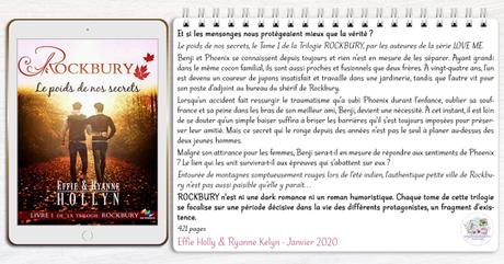 Rockbury #1 – Le poids de nos secrets – Effie Holly & Ryanne Kelyn