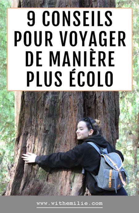 Mes conseils pour voyager de manière plus écologique