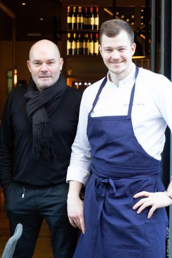 David Bottreau et le chef Guillaume Dehecq