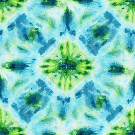 tie and dye motif losange bleu vert tissu - blog déco - clem around the corner