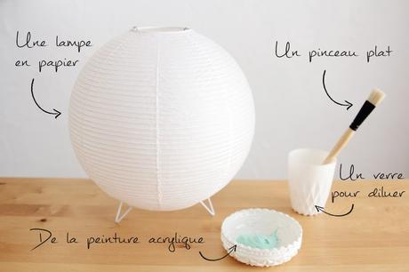 tie and dye lampe abat jour papier - blog déco - clem around the corner