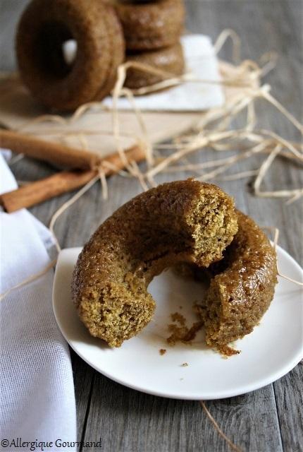 Comme des donuts potimarron-cannelle { sans gluten, sans lait, sans œufs }