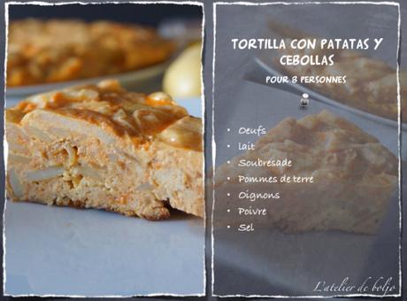 Omelette (tortilla) espagnole aux pommes de terre, aux oignons