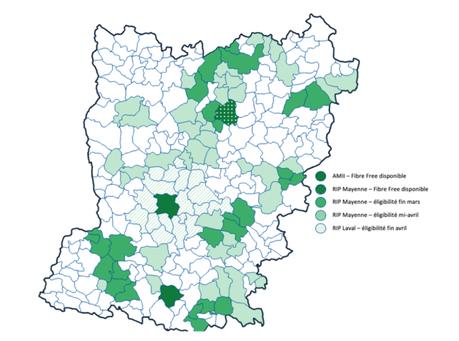 Eligibilité de la fibre Free en Mayenne