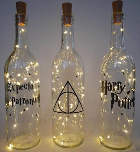 déco harry potter bouteille lumineuse guirlande diy do it yourself - blog déco - clem around the corner