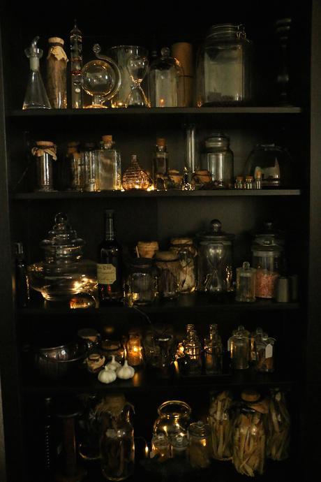armoire magique étagère potion professeur rogue idée décoration halloween fioles