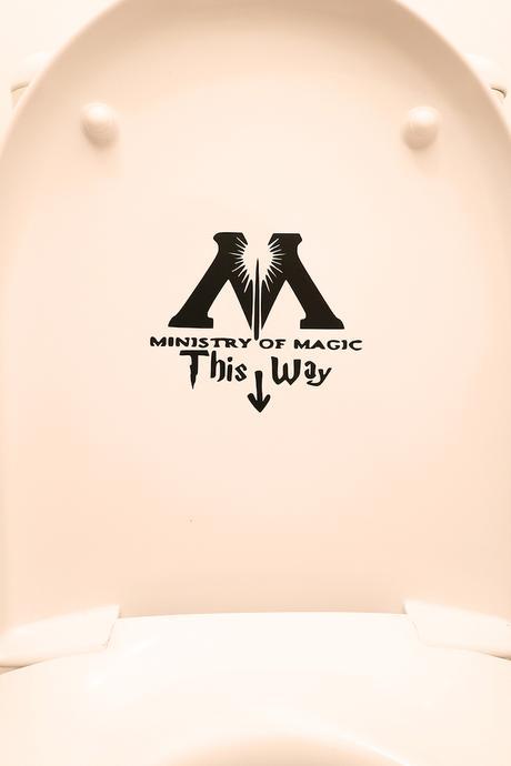 ministère de la magie idée drôle wc toilettes décoration