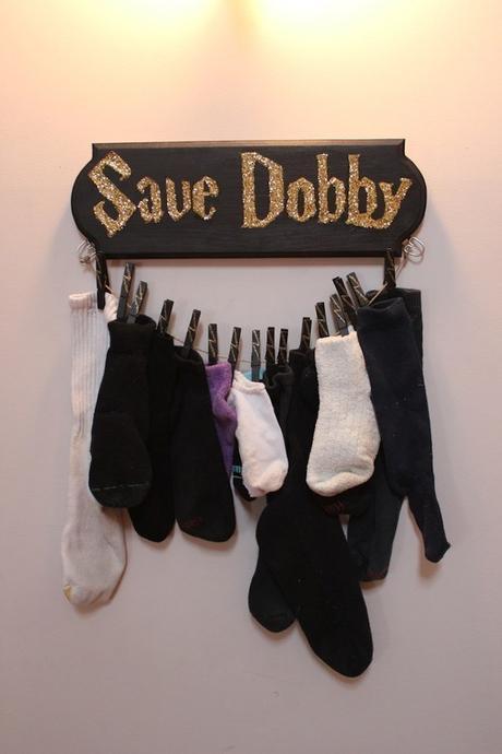 déco harry potter tangement chaussettes perdues idée originale famille rigolo fan fiction dobby elfe de maison - blog déco - clem around the corner