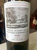 Je bois à la santé de Fb avec un Duhart Millon, un Clos des Grives...