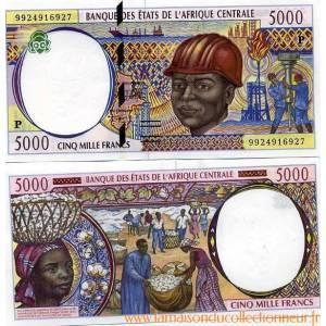 Precioso-de-billetes-chad-pick-numero-604-5000-franc-1993