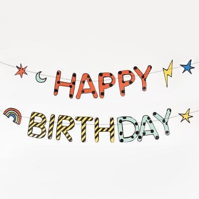 guirlande anniversaire happy birthday - My Little Day - le blog