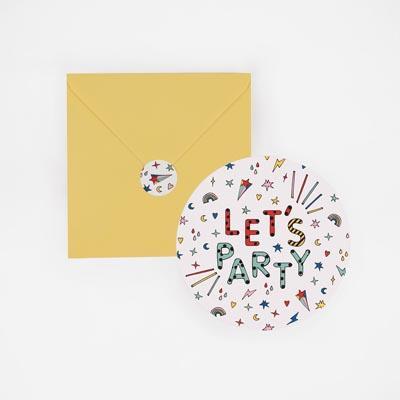 invitation anniversaire let's party - My Little Day - le blog