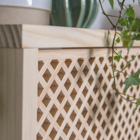 commode en bois plante verte déco authentique naturelle clemaroundthecorner