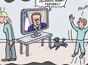 Macron ferme écoles