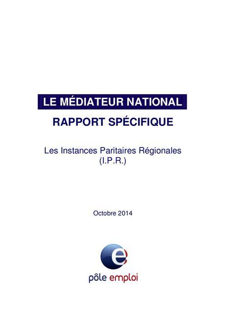 20141015 rapport ipr médiateur pole emploi2167793779391247942(1)