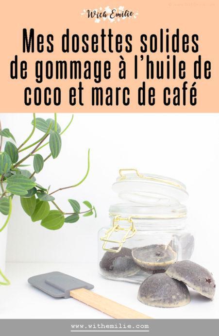 Gommage solide au café et à l'huile de coco fait maison
