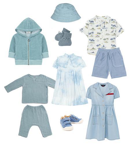 Mode Tendance bleu denim enfant