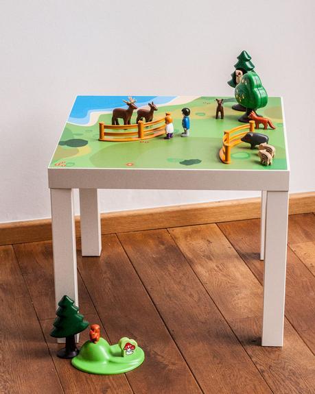 Lack IKEA hack table jeu playmobil pour chambre enfant DIY