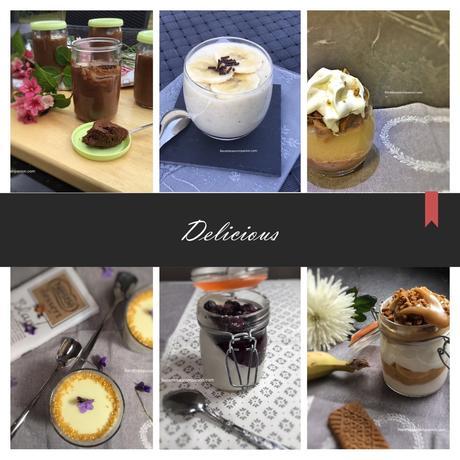 Crèmes desserts diverses et variées