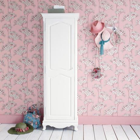 déco girly chambre enfant ami vintage fleuri rose