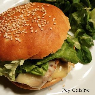 Buns maison & burger veggie au morbier