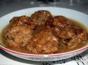 Boulettes viande hachée sauce blanche épaisse