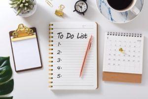 faire une to-do liste pendant le confinement et organiser ses journées