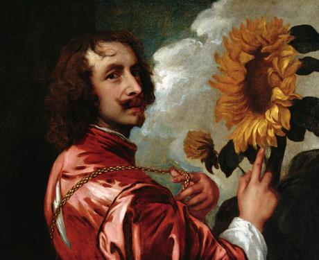 van dyck Autoportrait au tournesol 1632 Coll part