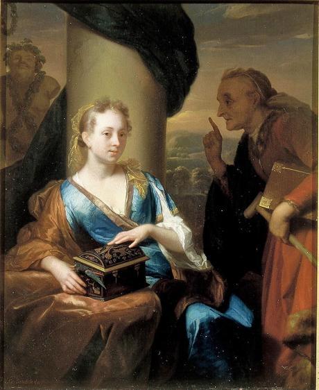 Schalcken 1690 ca A useless Moral Lesson Mauritshuis