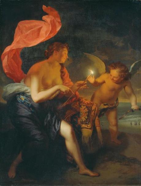 Schalcken 1690 Venus_overhandigt_Amor_een_brandende_pijl_-_GK_307_-_Museumslandschaft_Hessen_Kassel