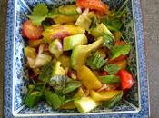 Salade sucrée salée mangues