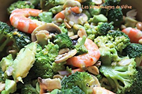 Salade crevettes et brocolis façon thaïe