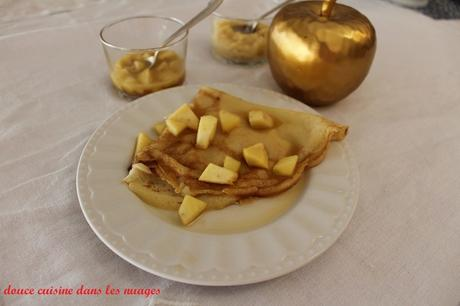 Crêpes à la crème de pomme