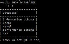 show databases in mysql under windows 10